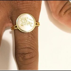 Repurpose Burberry Vintage Adjustable Ring